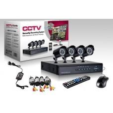 KIT VIDEO SURVEILLANCE 4 CAMERAS 4CH DVR H.264 3G USB VGA HDMI CABLE 5504H-4